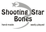 Shooting Star Bubinga Bones, Narrow (22mm): 7/8""